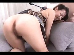 Busty Asian Girl Obtaining Her Hairy Pussy