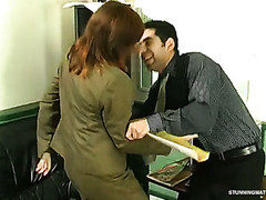 Aged excessive price seducing Caucasian dude into hardcore play befitting in the office